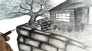 getlinkyoutube.com-How to draw a scenery house with narration.