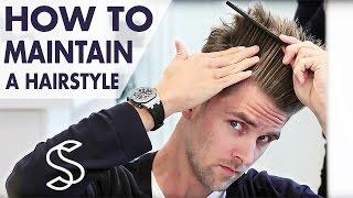 getlinkyoutube.com-How to maintain a hairstyle ★ Undercut and volume ★ Men's hair inspiration by Slikhaar TV