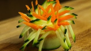 getlinkyoutube.com-How To Make Pinwheel Vegetable Garnish