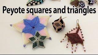 getlinkyoutube.com-BeadsFriends: Samples of squares and triangles from my creations