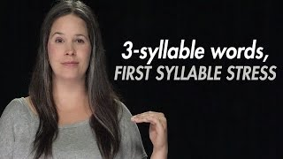getlinkyoutube.com-English Practice:  Syllable Stress – 3- Syllable Words