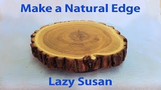 getlinkyoutube.com-Make a Kitchen Lazy Susan with Natural Edge - a woodworkweb woodworking video