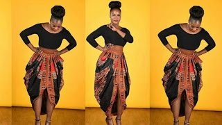 Part 1●One Yard Dashiki skirt● Cowl Skirt