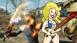 getlinkyoutube.com-FALLOUT 4 - ALL MELEE WEAPONS!