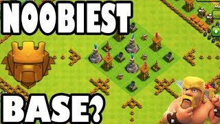 "getlinkyoutube.com-WE DID IT! - Clash of Clans - ""NOOBIEST TITAN BASE IN THE WORLD?!"" 3 STARRING MAXED BASE IN TITANS!"