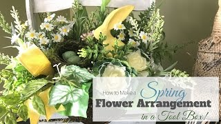 getlinkyoutube.com-How to Make a Simple Spring Flower Arrangement in a toolbox