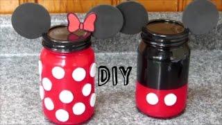 getlinkyoutube.com-DIY Minnie y Mickey Mouse | FRASCOS DE VIDRIO de Minnie y Mickey Mouse