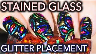 getlinkyoutube.com-Stained glass glitter placement nail art