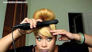 getlinkyoutube.com-How To Create Bangs (Fake Bangs) Without Cutting Your Hair.  (Beyonce Countdown Video)