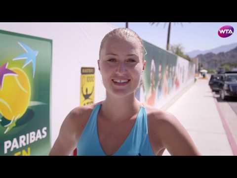 My Performance | Kristina Mladenovic Defeats Wozniacki | 2017 BNP Paribas Open Quarterfinals