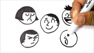 getlinkyoutube.com-Cara Menggambar Ekspresi Wajah   How To Draw Facial Expressions