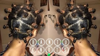 Step by Step Twisted Bantu Knot Out on Stretched Natural Hair