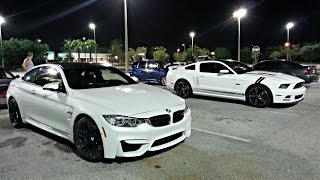 getlinkyoutube.com-BMW M4 vs Mustang 5.0 vs SRT4