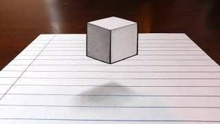 getlinkyoutube.com-Floating Cube - 3D Trick Art on Paper