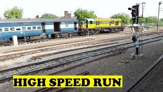 getlinkyoutube.com-Longest Rajdhani High Speed Non Stop 458 KM Run