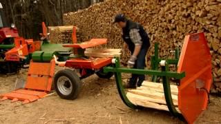 getlinkyoutube.com-Posch Splitmaster 20t wood splitter