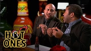 Key & Peele Lose Their Minds Eating Spicy Wings | Hot Ones width=
