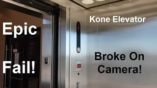 getlinkyoutube.com-EPIC FAIL!!!!! The Kone EcoDisc Scenic elevator is having major issues & breaking on camera!