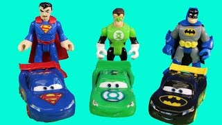 Disney pixar Cars Nightwing Car Lightning McQueen Batman Mater With Imaginext Justice League