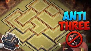 Clash of Clans - NEW Update TH9 Clan Wars BASE!! CoC Best Town hall 9 Anti-Three Star/Trophy Base!