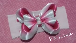 getlinkyoutube.com-Como fazer laço mil faces Diy ,Tutorial ,Pap By Iris Lima How To Make a Hair Bow