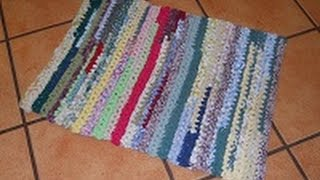 getlinkyoutube.com-Runner Rag Rug of Many Colors (Super Easy Crochet) Part 1