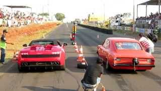 getlinkyoutube.com-Opala vs Lamborghini - 2ª puxada - 1º Drag Race Catanduva - SP - 05 e 06/09/2015