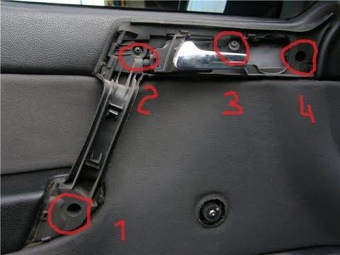 Как снять обшивку двери на Opel Astra G