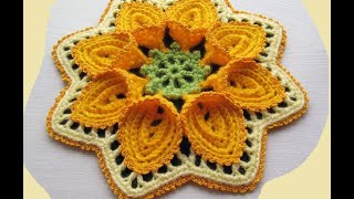 getlinkyoutube.com-Tutorial flor puritan crochet. Flor grande de ganchillo. Parte 1 de 2.