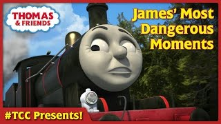 getlinkyoutube.com-James' Most Dangerous Moments | Thomas Creator Collective Presents Ep. #4 |Thomas & Friends