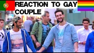 getlinkyoutube.com-Reaction to Gay Couple in Portugal Social Experiment