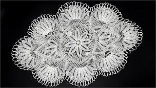 getlinkyoutube.com-Салфетка спицами часть 1-центр (knitting cloth (part 1 center)