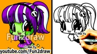 getlinkyoutube.com-How to Draw Halloween - GIRL Frankenstein's Monster - Learn to Draw - Drawing Lessons - Fun2draw