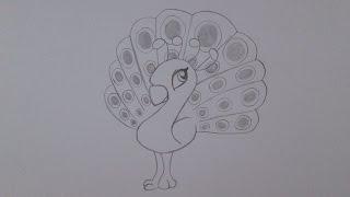 getlinkyoutube.com-Como desenhar um pavão