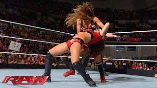 getlinkyoutube.com-AJ Lee & Brie Bella vs. Paige & Nikki Bella: Raw, Sept. 15, 2014