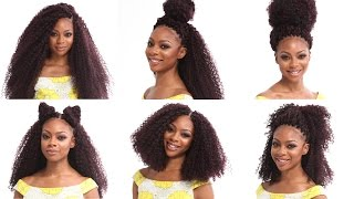 getlinkyoutube.com-Crochet Braids Tutorial | How to Install and Style X-Pression Kinky Curl Braiding Hair