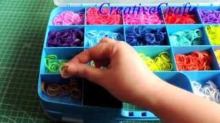getlinkyoutube.com-Como organizo mis gomitas 2 cajas dobles.Rainbow Loom. My Rainbow Loom Storage.