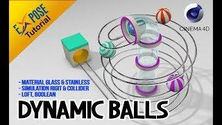 Cinema 4D Tutorial - Dynamic Balls (good for beginner)