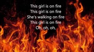 Girl on Fire by Alicia Keys (Lyrics) width=