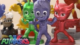 getlinkyoutube.com-PJ Masks Toys Unboxed w/ Skylanders, Disney, Marvel (+Bonus Comp)