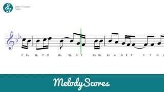 getlinkyoutube.com-Trumpet | Adele - Hello Sheet Music