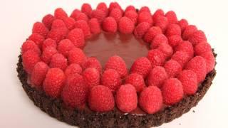 getlinkyoutube.com-Chocolate Raspberry Tart Recipe - Laura Vitale - Laura in the Kitchen Episode 317