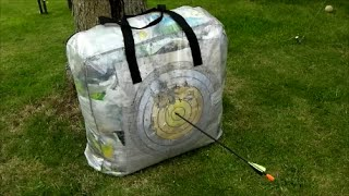 getlinkyoutube.com-How to make an archery target from Ikea Dimpa storage bag