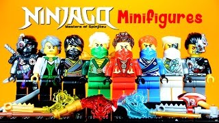 getlinkyoutube.com-LEGO Ninjago Techno Robes Masters of Spinjitzu KnockOff Minifigures Set 12 with Kai Jay Cole Zane