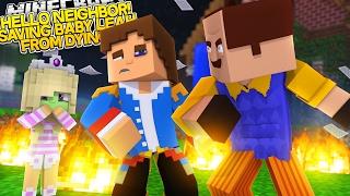 getlinkyoutube.com-HELLO NEIGHBOR, SAVING BABY LEAH FROM DYING!! - Little Donny Minecraft Custom Roleplay.