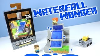 getlinkyoutube.com-Minecraft Mini-Figures Cave Biome Collection Waterfall Wonder 4 of 4