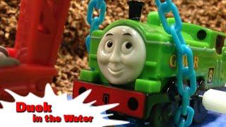 "getlinkyoutube.com-トーマス プラレール ガチャガチャ ダックはみずがすき! Tomy Plarail Thomas ""Duck in the Water"""