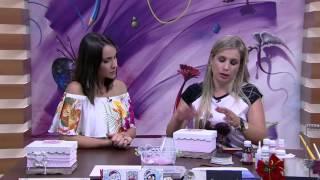 getlinkyoutube.com-Mulher.com - 27/11/2015 - Caixa estilo shabby chic simples - Camila Claro de Carvalho  PT2