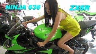 "getlinkyoutube.com-2013 Kawasaki NINJA ZX6R 636 Super Sportbike ""The Beginning"""