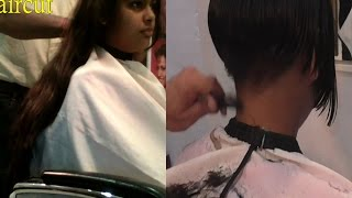 getlinkyoutube.com-Makeover Haircut Part 9 (Mushroom Haircut)